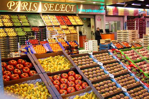 Rungis, pavillon réservé aux fruits et légumes