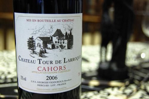 Vin château Larroque