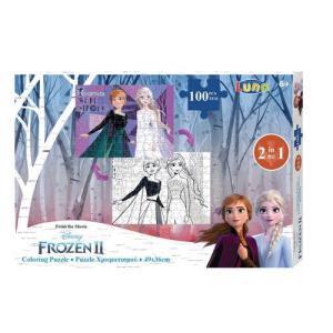 Luna – Puzzle Χρωματισμού – 2 Όψεων 100 Pcs 49×36 εκ Frozen II 562637