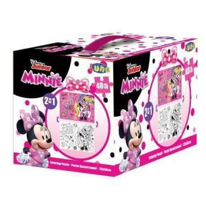Luna – Puzzle Χρωματισμού – Κύβος 2 Όψεων 48 Pcs 50×35Εκ Minnie Mouse 562641