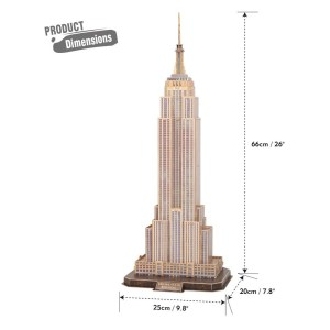 Cubic Fun – 3D Puzzle National Geographic, Empire State Building 66 Pcs DS0977h