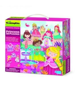 4M – Puzzle Δαπέδου – Πριγκίπισσες 3D 9 Pcs 49×49 εκ 00-04718