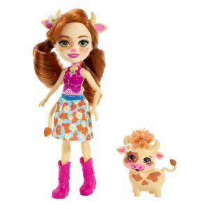 Mattel Enchantimals – Κούκλα Και Ζωάκι Cailey Cow & Curdle FXM77 (FNH22)