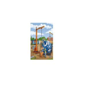 Schmidt Spiele – Puzzle 3 in 1 Construction Work Ahead 24/24/24 Pcs 56200