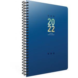 Unipap – Ημερήσιο Ημερολόγιο Σπιράλ Tivoli 2022, 12×17 Μπλε 622-1712-85