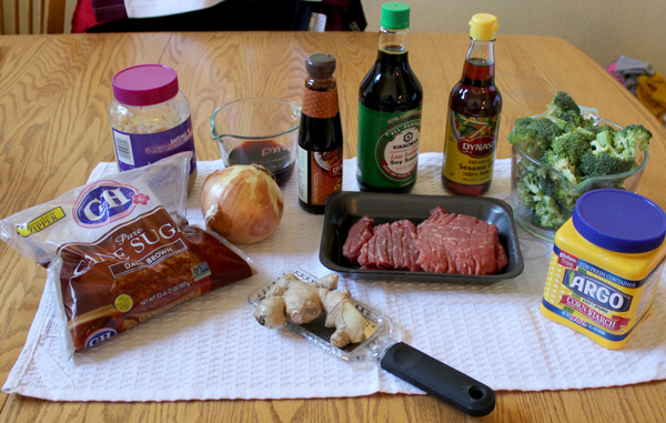 Beef and Broccoli Stir Fry Ingredients