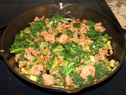 Italian sausage with kale