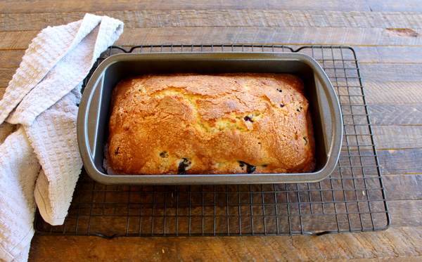 Let the loaf cake cool for 10 minutes in the pan before removing to wire rack.