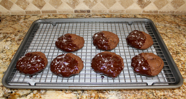 Dip the cookies in the ganache and let cool
