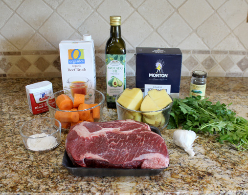 Easy Slow Cooker Pot Roast Ingredients