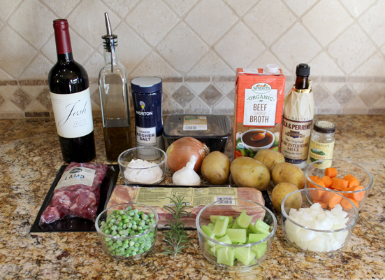 Ingredients for Instant Pot Lamb Stew