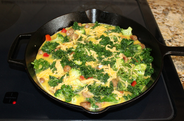 eggs setting in the skillet