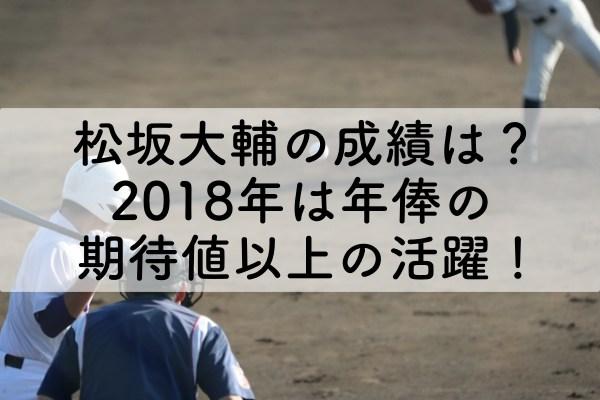 松坂大輔の成績は?2018年は年俸の期待値以上の活躍!