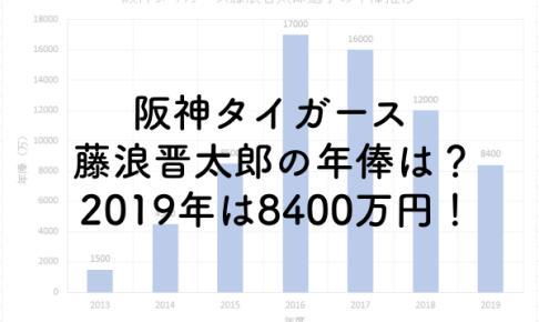 阪神タイガース藤浪晋太郎の年俸は?2019年は8400万円!のアイキャッチ画像