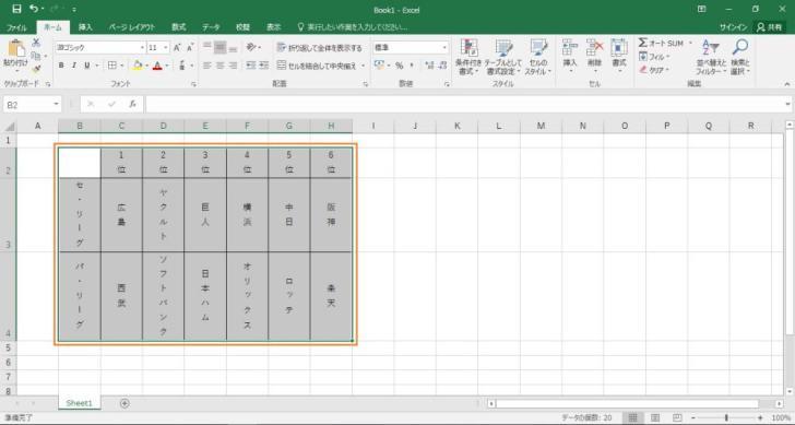 エクセルの縦書きで左から右(右から左)に設定変更する手順を示した画像3
