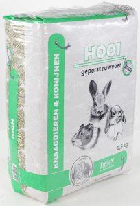 konijnen hooi