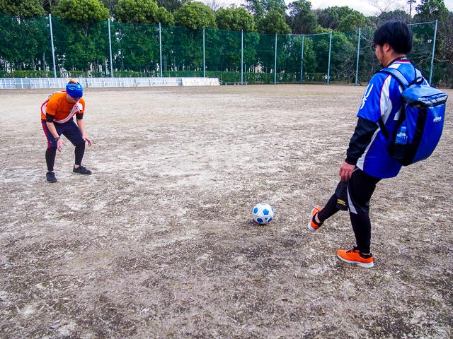 ひとまず初ブラインドサッカーの練習