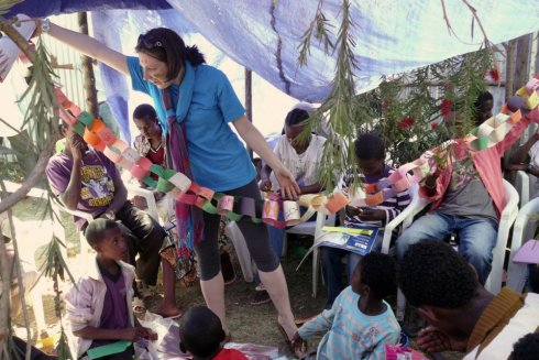 Jennifer in Ethiopia.  Photo by Leslie Taylor White