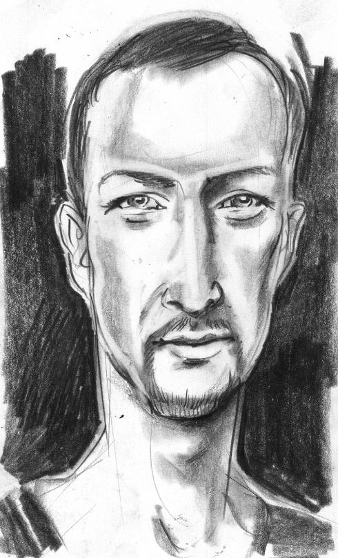 Jason Matlo, pencil on index card