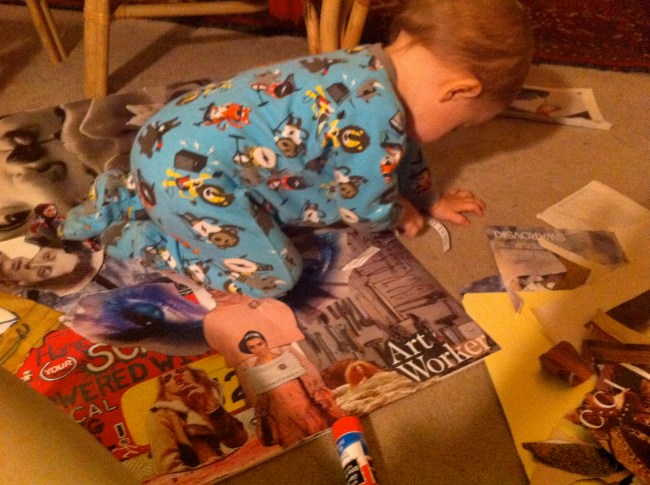 My nephew, Henrik, fully immersed himself in the process with me