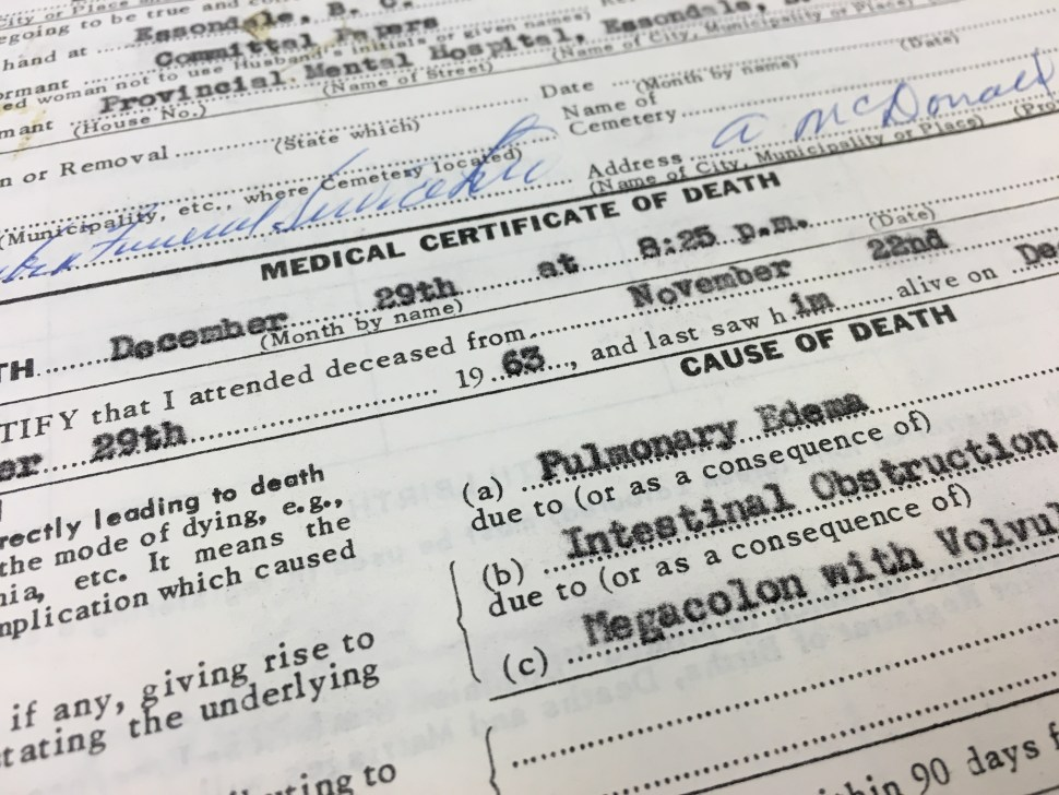 DEATH CERTIFICATE CLOSEUP 2