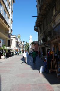 La strada principale e pedonale de La Zona Colonial di Santo Domingo, El Conde.