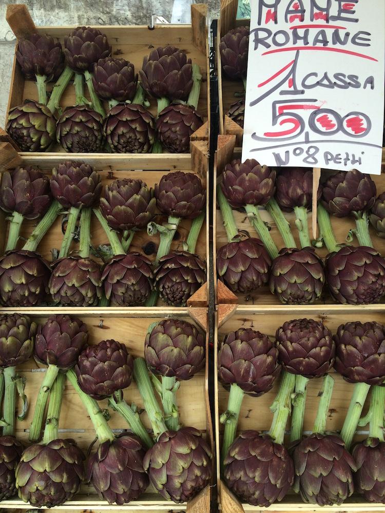 artichokes at the market italy