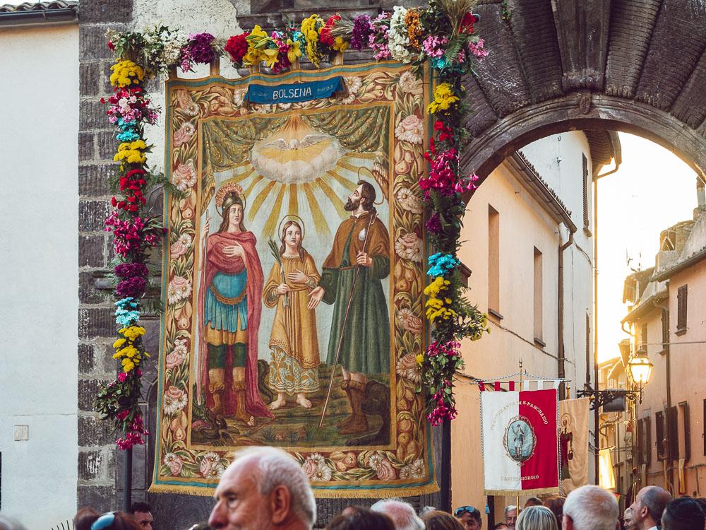 procession at the infiorata in bolsena