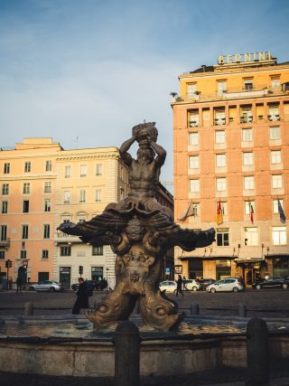 fountain of Tritone in Rome