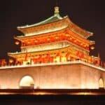 Red Gold China Pagoda