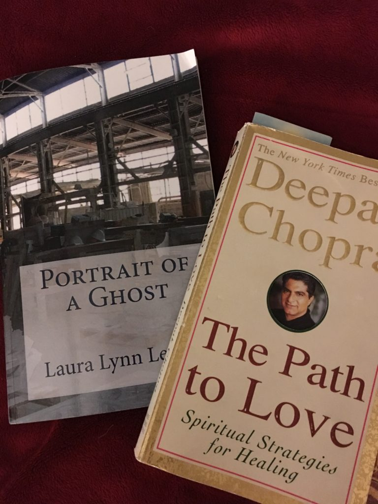 "A couple of my most current reads. ""Portrait of a Ghost"" was written by my sister, which I just finished. I also have another sister that has written a few books as well. (You can find their books on Amazon) I just started ""The Path to Love"" which was loaned to me by my SIL, Patz. (Actually, it was intended for my daughter but I stole it!)"