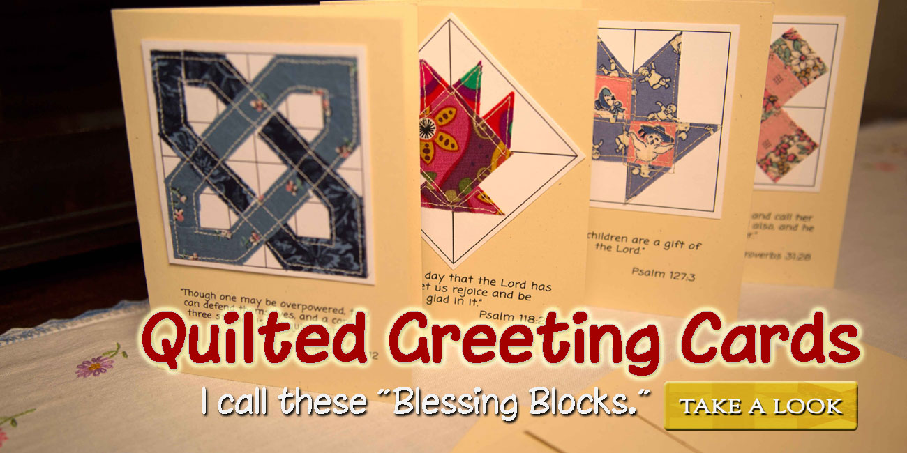 Blessing Blocks quilted greeting cards