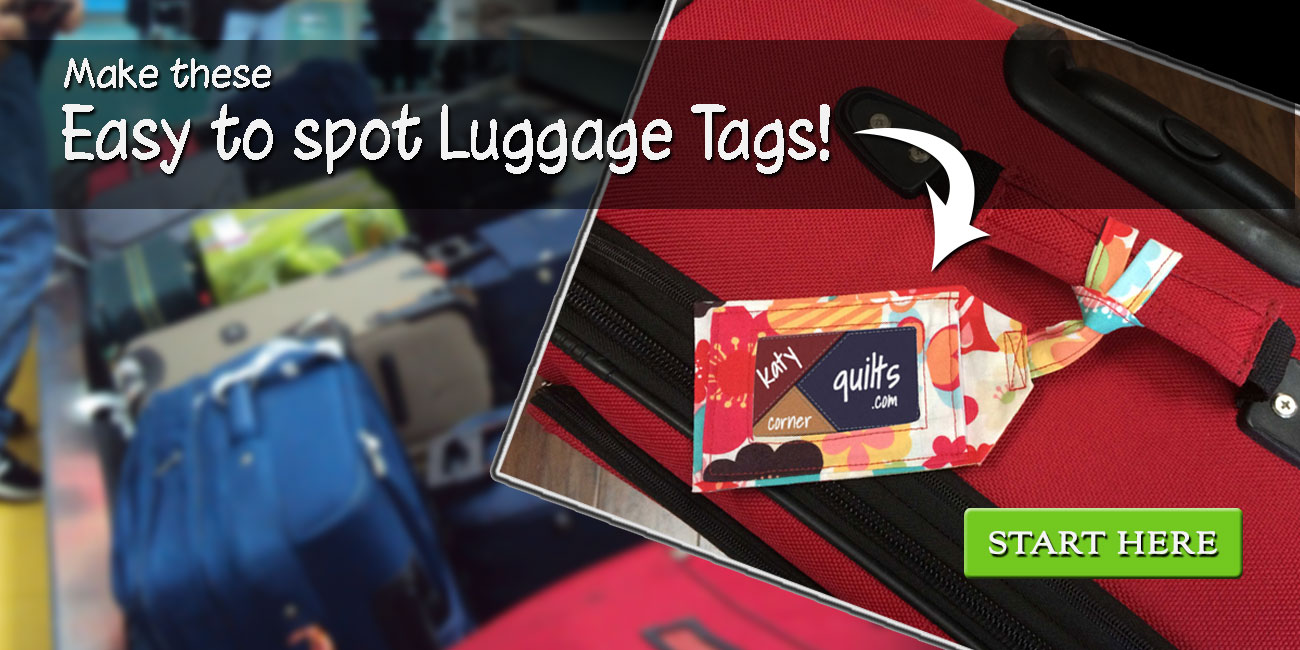 Make these eye catching luggage tags.