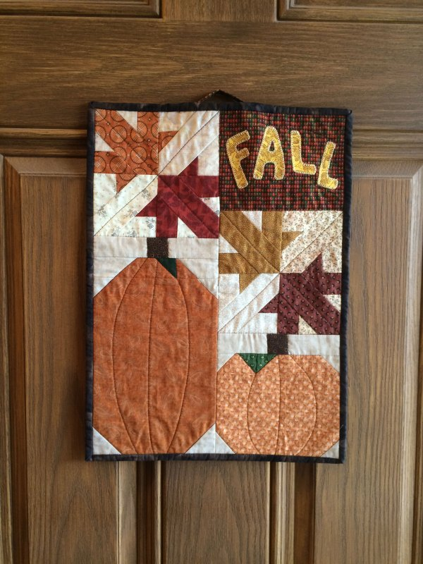autumn wall hanging falling leaves