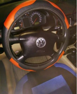 Premium Leather Steering Wheel Cover Car Heated Wheel Cover photo review