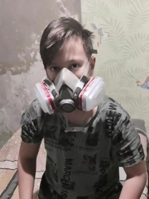 Dust Chemical Protection Respirator Face Mask photo review