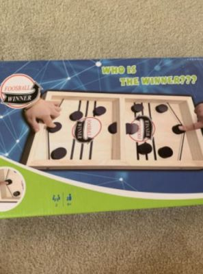 Table Hockey Game For Adult & Child - Sling Puck Toy Parent Children Desktop Battle Table For Kids Friends Gathering Gifts photo review
