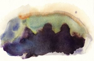 Watercolour Abstract Bush Dam