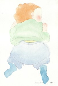 Watercolour Painting: Baby Green