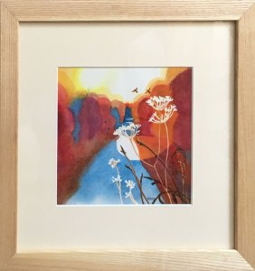 Framed Watercolour: Thaw Reds