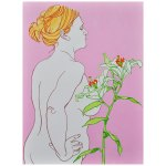 Lily Original Acrylic Ink painting on Wooden Board Katy Hood