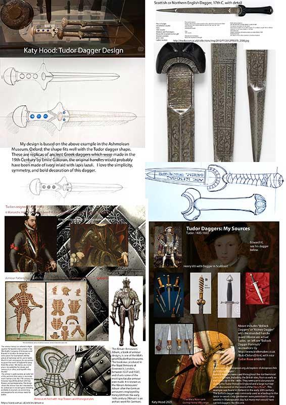 Katy Hood Mood Board Concept Tudor Weapons