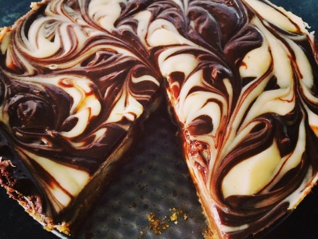 Chocolate ripple cheesecake
