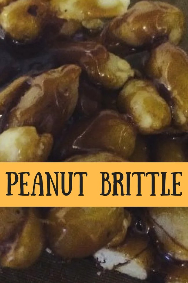 Super simple peanut brittle recipe. Cheap, frugal, budget recipe. A tasty snack that is so simple to make
