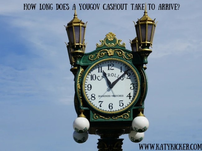 How long does a YouGov cashout take to arrive?