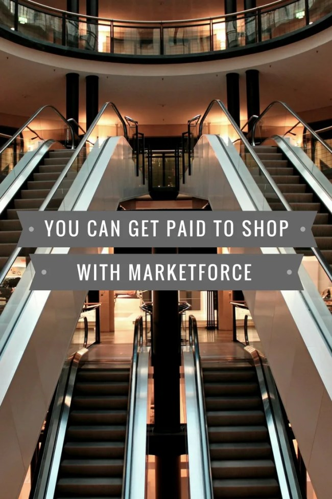 You can get paid to shop with Marketforce mystery shopping
