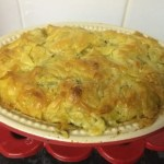 chicken, spinach, filo pie - A look at the finished pie