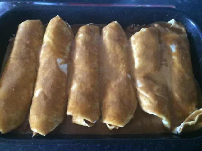 Simple tortilla recipe - A look at my enchiladas I made!