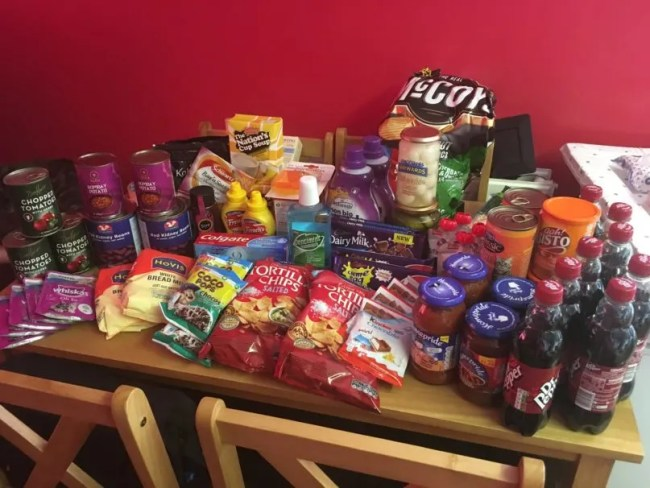 Approved Food review - showing all of the goodies that I bought