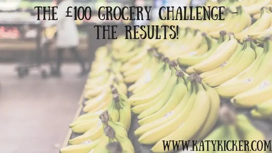 £100 grocery challenge - the results